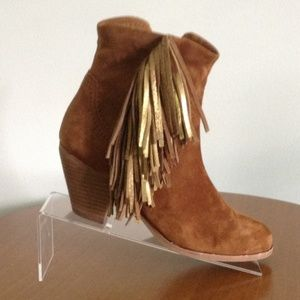 Sam Edelman Womens Brown Suede Ankle Boots